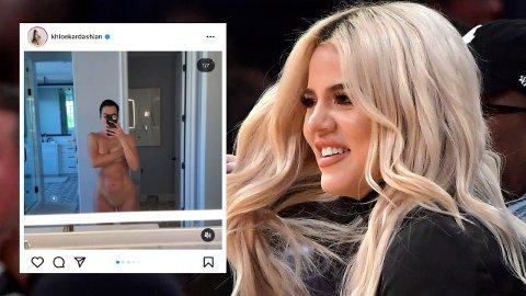 NAKEN: Khloé Kardashian har delt både en lettkledd video og en lengre tekst etter at et bikinibilde ble lekket uten hennes tillatelse.