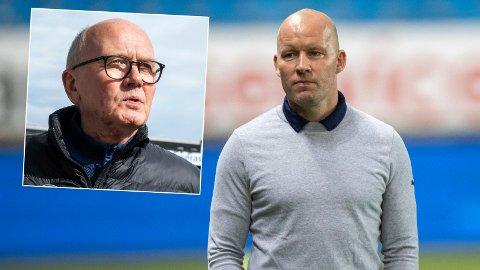 EGEN GRANSKNING: Styreleder Ivar Strømsjordet (innfelt) har gransket rasismevarslene mot Strømsgodset-trener Henrik Pedersen.