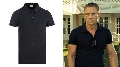 Med denne Polo-skjorten fra Sunspel kan du se like barsk ut som James Bond.