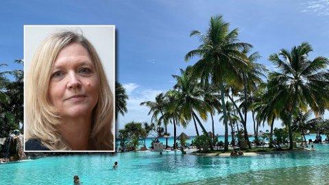 FERIEDRØM: Mange drømmer seg bort til palmesus og bølgeskvulp, som her på Maldivene. NHOs direktør for arbeidsliv, Nina Melsom (innfelt), peker på at ferieloven åpner for å plassere hovedferien i august.