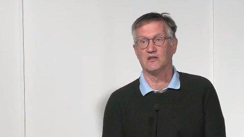 Sveriges statsepidemiolog Anders Tegnell på torsdagens pressekonferanse.