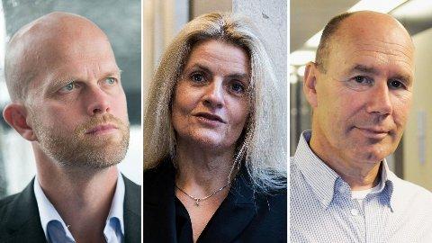 REAGERER: Hallgeir Kvadsheim, Inger Lise Blyverket i Forbrukerrådet og professor Tor Wallin Andreassen ved NHH reagerer på at man må bekrefte at man vil forlenge poengene sine hos Norwegian.