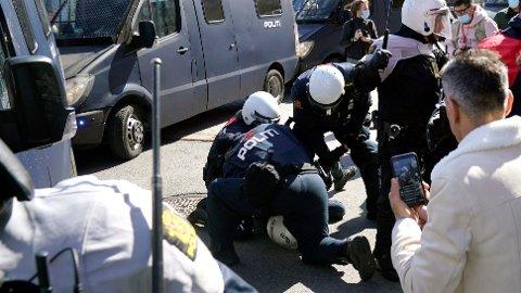 Flere er pågrepet i Drammen etter at Sian holdt appeller i byen.