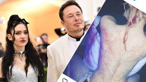 NYTT «ARR»: Kjæresten til Elon Musk, Grimes, vekker oppsikt med en ny og helt spesiell tatovering.