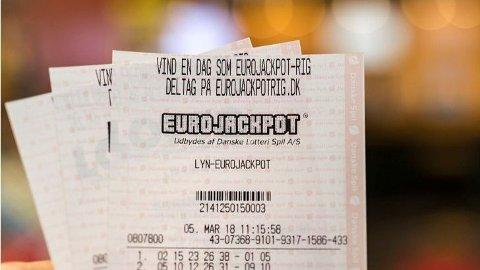 En danske stakk av med førstepremien i fredagens Eurojackpot-trekning. Foto: Danske Spil