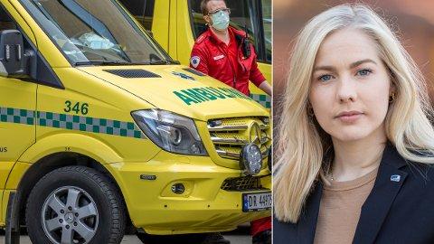 EL-AMBULANSE: Høyre-politiker Mari Holm Lønseth latterliggjør forslaget fra SV om å innføre el-ambulanser.