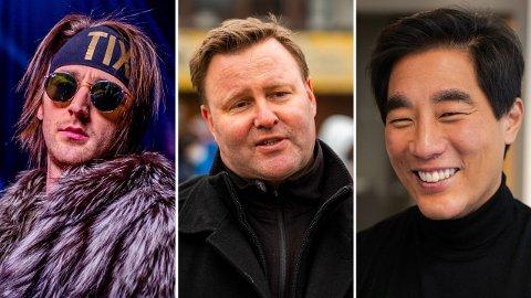 POSITIVT INNTRYKK: Andreas «Tix» Haukeland, Espen Nakstad og Fredrik Solvang er alle å finne på listen over hvem nordmenn er positive til ett år etter koronaviruset brøt ut.