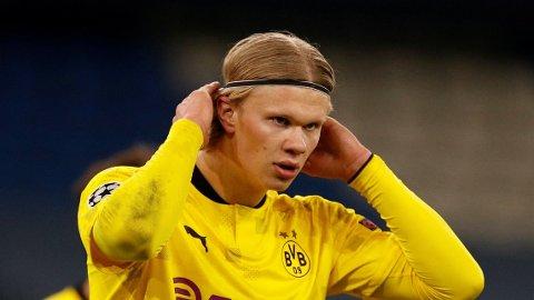 Borussia Dortmund's Erling Haaland er et omdiskutert navn om dagen.