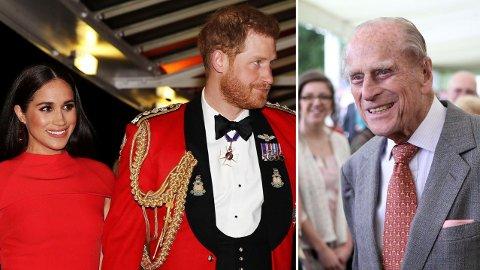REISTE ALENE: Prins Harry lot kona være hjemme da han reiste fra USA for å delta i prins Philips kommende begravelse.