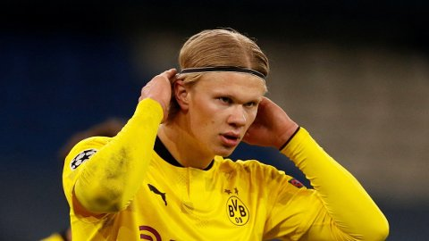 Erling Braut Haaland og Borussia Dortmund jakter semifinaleplass i Champions League onsdag kveld.