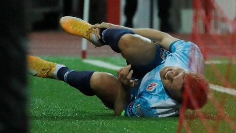 Martin Ødegaard tråkket over i VM-kvalifiseringskampen mot Gibraltar i slutten av mars.