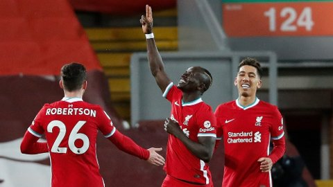 Dette er sist en Liverpool-spiller kunne juble for en scoring i løpet av de første 45 minuttene i en Premier League-kamp. Sadio Mane scoret 1-0-målet mot West Brom i det tolvte minutt på Anfield.