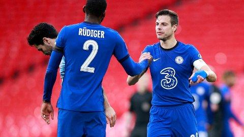 Cesar Azpilicueta ogAntonio Rudiger er de to spillerne som har startet flest kamper under Thomas Tuchel i Chelsea. De har startet henholdsvis 18 og 16 kamper etter at tyskeren kom til Stamford Bridge.