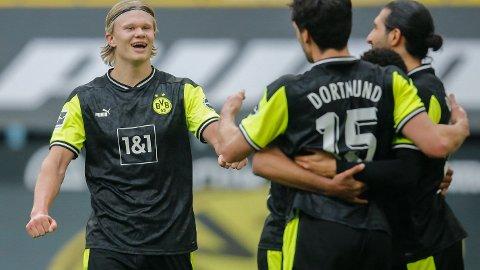 Erling Braut Haaland var tilbake på scoringslisten igjen i lørdagens hjemmekamp mot Werder Bremen. Jærbuen scoret to av målene i 4-1 seieren.