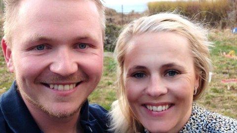 GLADE VINNERE: Jone Bergum Ørjansen og samboer Lena Gravdal kunne glede seg over en fin Joker-premie onsdag 21. april.