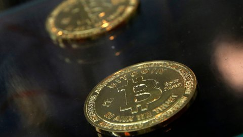 BITCOIN-STUP: Bitcoin er kraftig ned fredag.