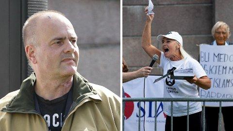 Sian-leder Lars Thorsen og nestleder Fanny Bråten har spredt et islamfiendtlig budskap flere steder i Norge.