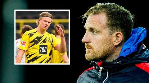 JOBBET SAMMEN: Håkon Wibe-Lund jobbet med Erling Braut Haaland på aldersbestemte landslag.