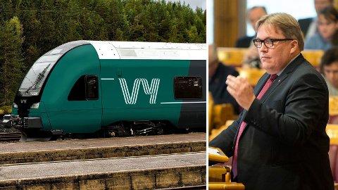TOGSTRID: Arbeiderpartiets transportpolitiske talsperson, Sverre Myrli, sier deres målsetting er å bygge Nord-Norgebanen, men understreker at jerbanestrekningen først må utredes før den kan prioriteres økonomisk.