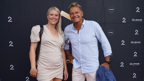 Tiril Sjåstad Christiansen og Dag Otto Lauritzen fotografert i forbindelse med Gullruten 2020. Lauritzen er pappa til Stian Lauritzen, som er samboer til Christiansen.