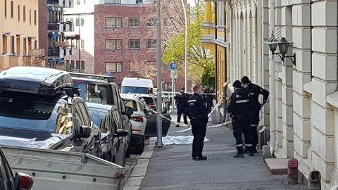 EN PÅGREPET: En kvinne ble onsdag skutt og drept på åpen gate på Frogner i Oslo. Politiet har pågrepet en mann som er mistenkt for drapet.