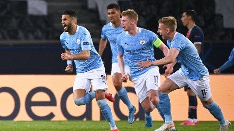 SEIER: Manchester City kan juble for sterk seier over PSG.
