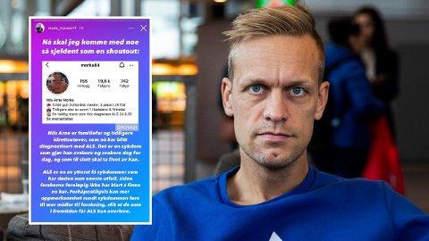 NY AKSJON: Mads Hansen skal igjen donere penger til et veldedig formål dersom følgerne hans gjør som han ønsker.