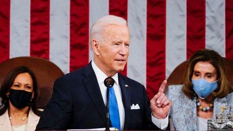 Joe Biden under talen der han omtalte Nord-Koreas atomvåpenprogram som en stor sikkerhetstrussel. Det har fått Nord-Korea til å reagere mot Washington.