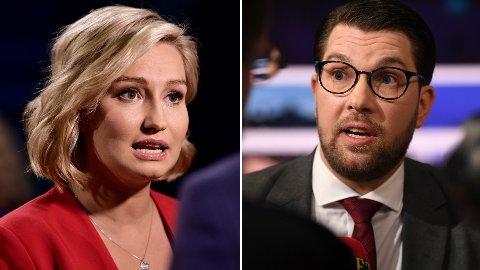 TO AV REPRESENTANTENE: Kristdemokraternas partileder Ebba Busch og Sverigedemokraternas Jimmie Åkesson