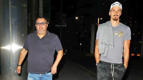 GODT FORHOLD: Mino Raiola og Zlatan Ibrahimovic har utviklet et godt forhold siden førstnevnte ble Zlatans agent.