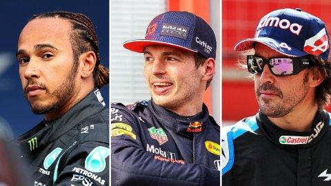 I TOPPEN: Lewis Hamilton, Max Verstappen og Fernando Alonso tjener best av Formel 1-førerne.