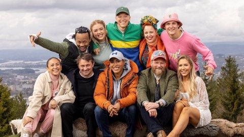 Bak fra venstre: Tshawe Baqwa, Agnete (Agnetesh) Husebye, Rasmus Wold, Silya Nymoen, Birk Ruud Foran fra venstre: Mona Berntsen, Thomas Numme, Cecilia Brækhus, Petter Schjerven, Aurora Gude.