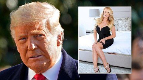Pornoskuespillerinnen Stormy Daniels fortalte om sitt møte med Donald Trump i en ny podkastepisode i februar i år. Les mer om intervjuet nederst i saken.