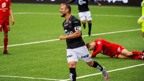 SCORET: Veton Berisha scoret mot Brann, da Viking vant 3-1.