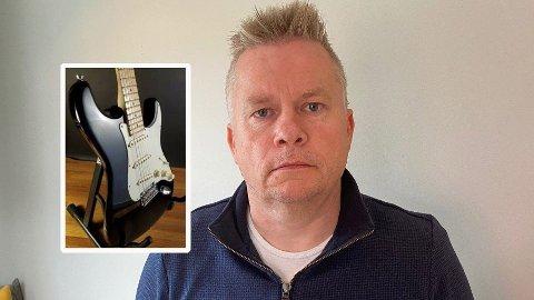 GITAR FORSVANT: Kjetils gitar kom seg trygt fram til Norge fra Kentucky, USA. PostNord hadde ansvar for å levere pakken fra Gardermoen til Kolsås. På denne etappen forsvant pakken ut av PostNords kontroll.