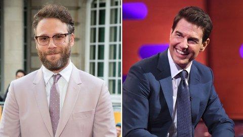 PINLIG MØTE: Seth Rogens møte med Tom Cruise endte i en potensielt svært avslørende overvåkningsvideo.