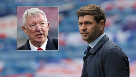 SNAKKER SAMMEN: Steven Gerrard har fått et godt forhold til tidligere United-manager sir Alex Ferguson.