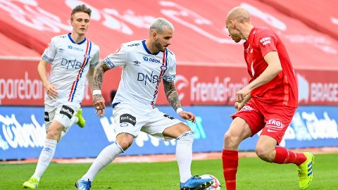 GOD: Aron Dønnum var god mot Brann, og fikset assist på målet.