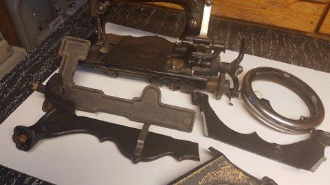 ØDELAGT: Den uerstattelige symaskinen fra 1885 var ødelagt da den kom frem til samler Tore Nohr.