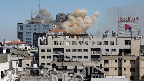 En bygning i Gaza har blitt bombet av det israelske luftforsvaret.