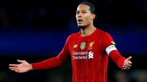 SKADET: Liverpools Virgil van Dijk har vært ute med en kneskade siden midten av oktober etter kampen mot Everton.