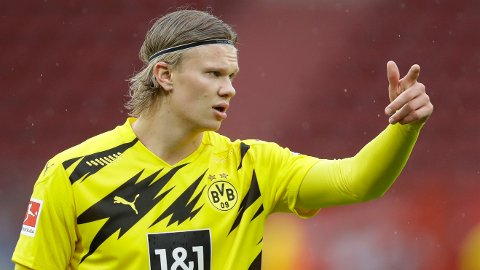 ETTERTRAKTET: Borussia Dortmund og Erling Braut Haaland vant nylig den tyske cupen. I finalen scoret nordmannen to mål.