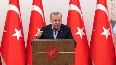 President Recep Tayyip Erdogan under en tale han holdt i Ankara tidligere denne måneden.