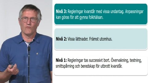 PLAN FOR GJENÅPNING: Statsepidemiolog Anders Tegnell presenterte torsdag planen for en gradvis gjenåpning av Sverige,