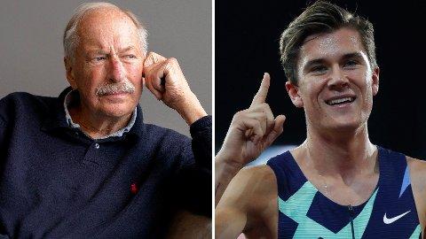 IMPONERT: Løpenestor Johan Kaggestad mener Jakob Ingebrigtsen er en bedre løper i år, enn det han var forrige sesong.