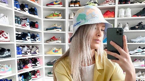 INFLUENSER: Hanna Helsø er sneaker-influencer og har flere hundre par sneakers i skapet.
