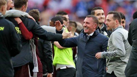 Leicester-manager Brendan Rodgers har ikke gitt opp Champions League neste sesong.