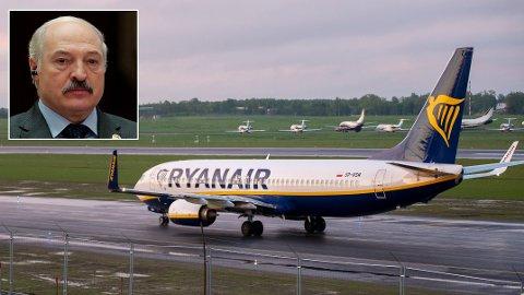TVUNGET TIL Å LANDE: President Alexander Lukashenko skal angivelig personlig beordret at en MiG-29-jagerfly skulle følge Ryanair-flyet med opposisjonsfigur Raman Pratasevich.