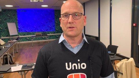 LOVER Å TA HENSYN: Steffen Handal, som er leder i Unio kommune, sier at deres streikeuttak ikke skal ramme koronahåndteringen.