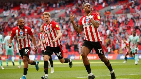 PREMIER LEAGUE-KLARE: Brentford er klare for Premier League etter seier over Swansea i lørdagens playoff-finale.